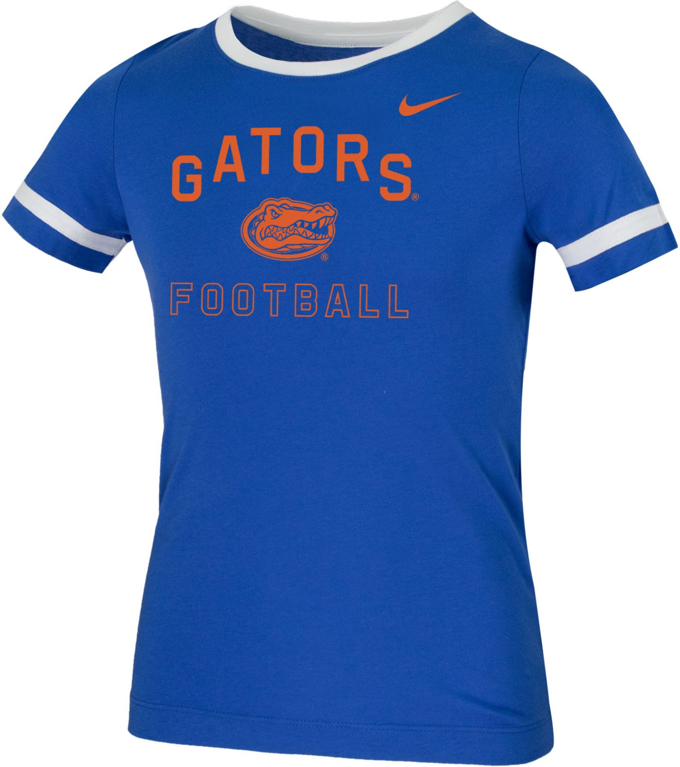 Nike Youth Florida Gators Blue Fan Ringer Football T-Shirt