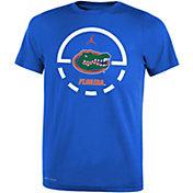 Jordan Youth Florida Gators Blue Legend Basketball Key T-Shirt