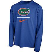 Nike Youth Florida Gators Blue Legend Stacked Long Sleeve T-Shirt