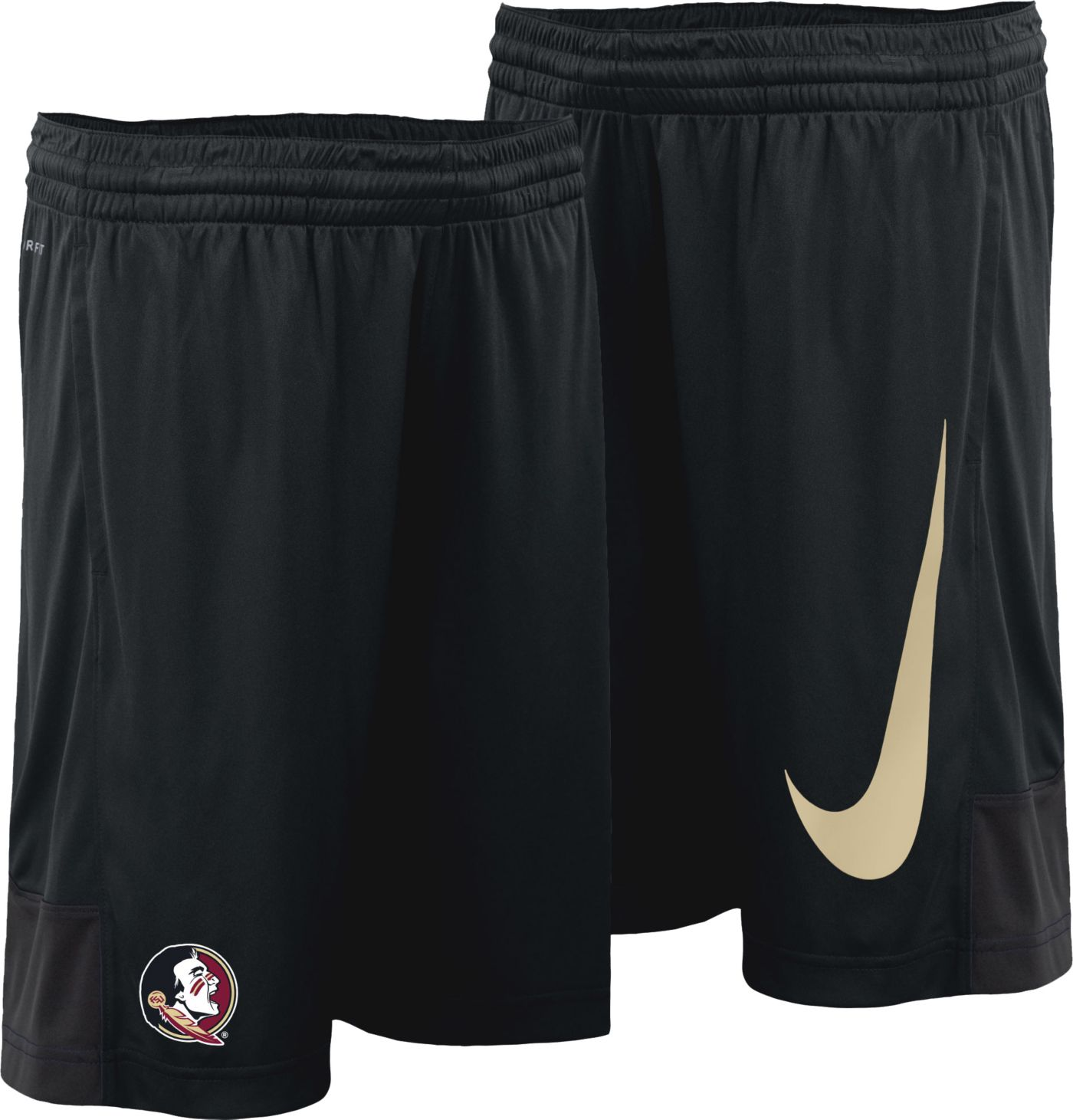 Nike Youth Florida State Seminoles Dry Black Shorts
