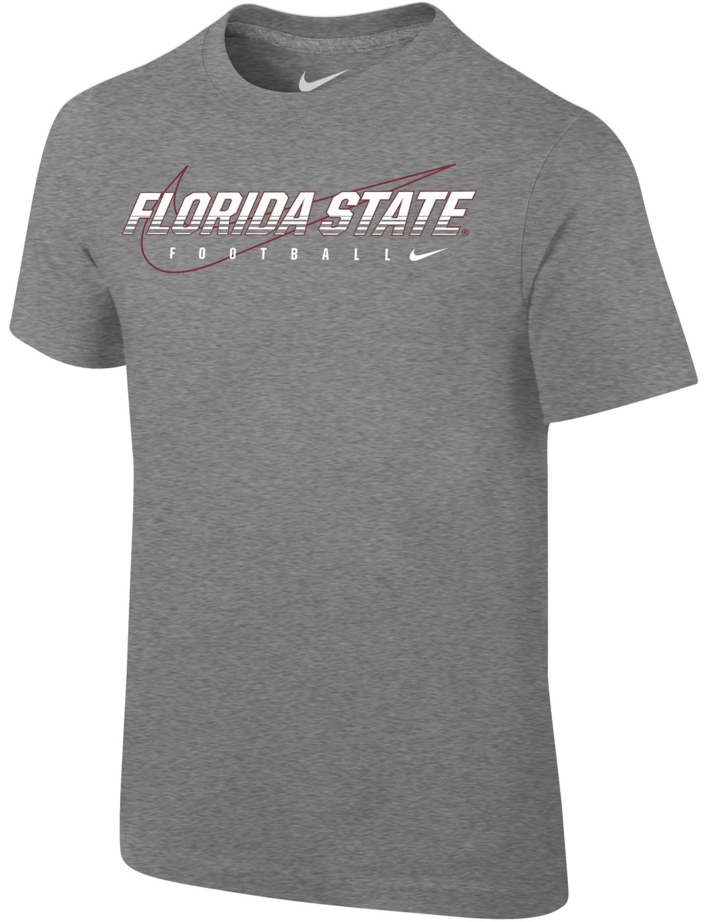 Nike Youth Florida State Seminoles Grey Football Dri-FIT Cotton Preschool Facility T-Shirt