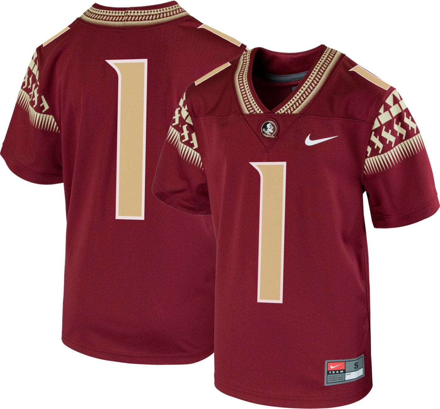 Nike Youth Florida State Seminoles #1 Garnet Replica Football Jersey