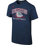 Nike Youth Gonzaga Bulldogs Blue Cotton Basketball T-Shirt