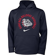 Nike Youth Gonzaga Bulldogs Blue Therma Basketball Hoodie