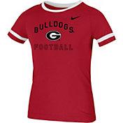 Nike Youth Georgia Bulldogs Red Fan Ringer Football T-Shirt