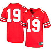 Nike Boys' Ohio State Buckeyes #19 Scarlet Replica Football Jersey
