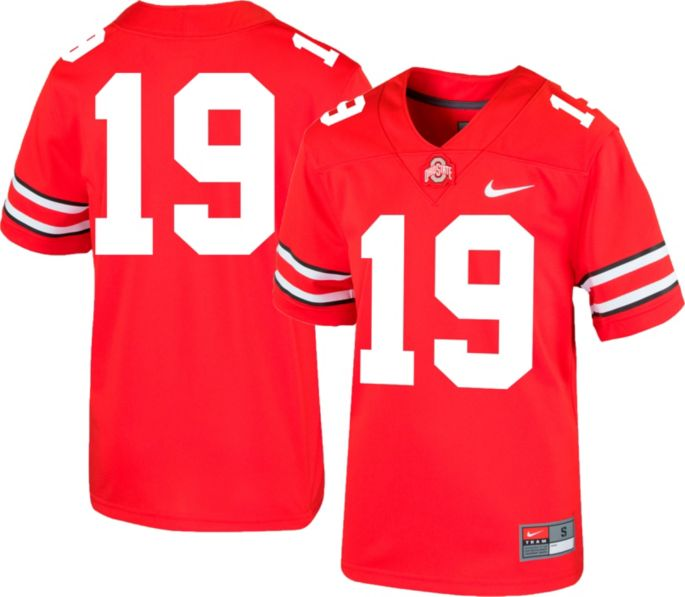 newest bba6d 04f03 Nike Boys' Ohio State Buckeyes #19 Scarlet Replica Football Jersey