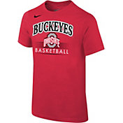 Nike Youth Ohio State Buckeyes Scarlet Cotton Basketball T-Shirt