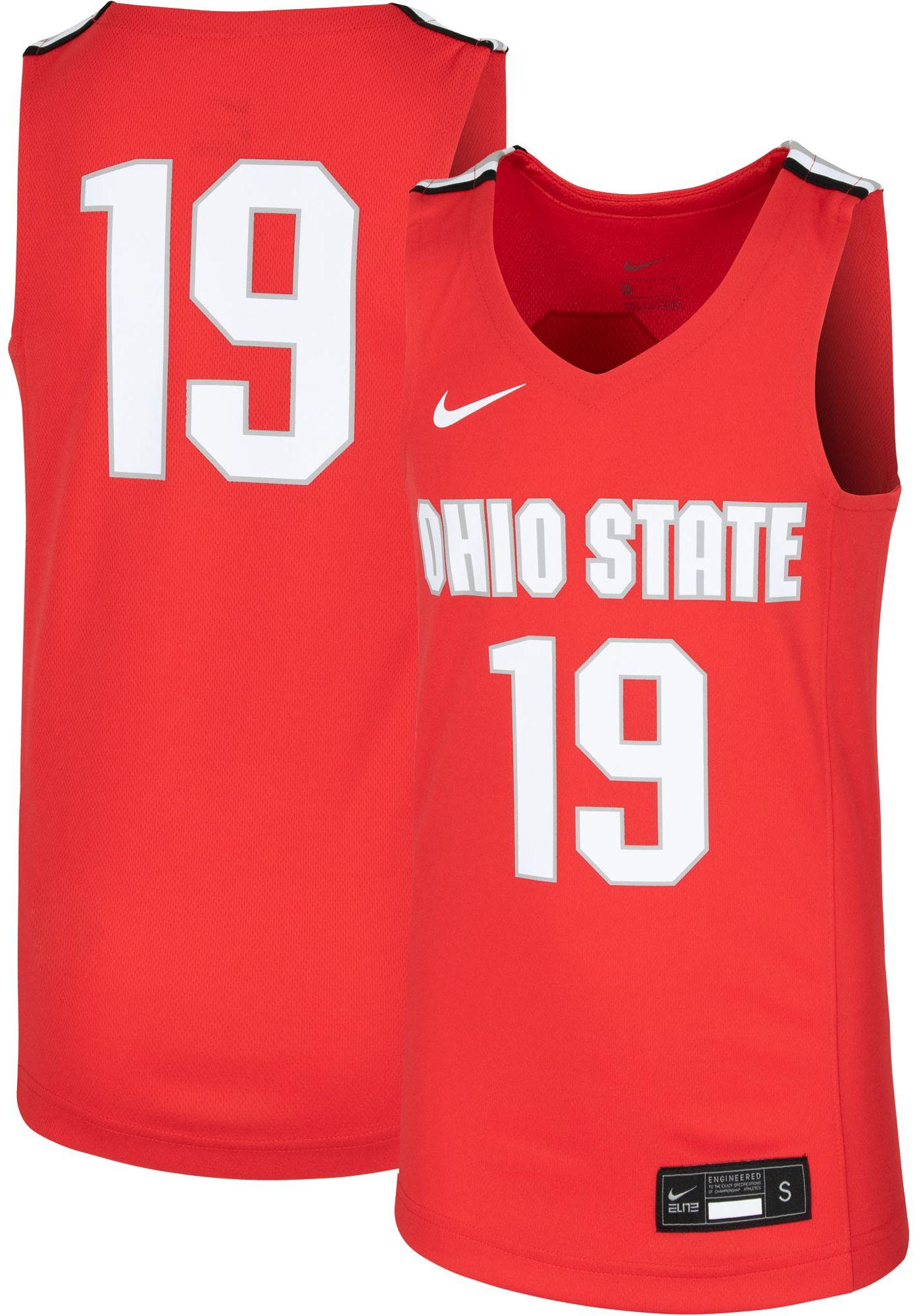 Nike Youth Ohio State Buckeyes #19 Scarlet Replica Basketball Jersey