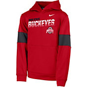 Nike Youth Ohio State Buckeyes Scarlet Therma Football Sideline Pullover Hoodie