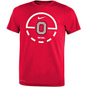 Nike Youth Ohio State Buckeyes Scarlet Legend Basketball Key T-Shirt