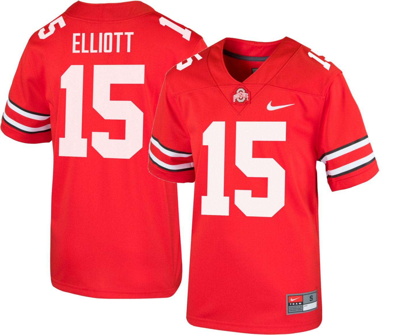 Nike Youth Ezekiel Elliott Ohio State Buckeyes #15 Scarlet Replica Football Jersey