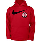 Nike Youth Ohio State Buckeyes Scarlet Therma Fleece Hoodie
