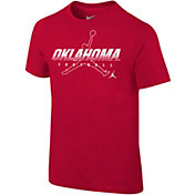 Nike Youth Oklahoma Sooners Crimson Football Dri-FIT Cotton Preschool Facility T-Shirt