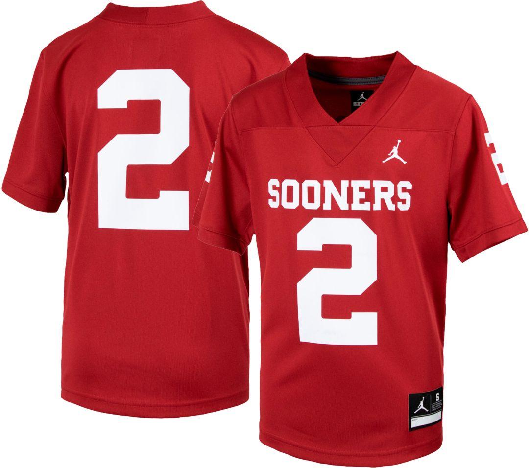 lowest price 44595 4ebbc Jordan Youth Oklahoma Sooners #2 Crimson Replica Football Jersey