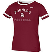 Nike Youth Oklahoma Sooners Crimson Fan Ringer Football T-Shirt