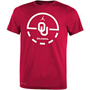 Jordan Youth Oklahoma Sooners Crimson Legend Basketball Key T-Shirt