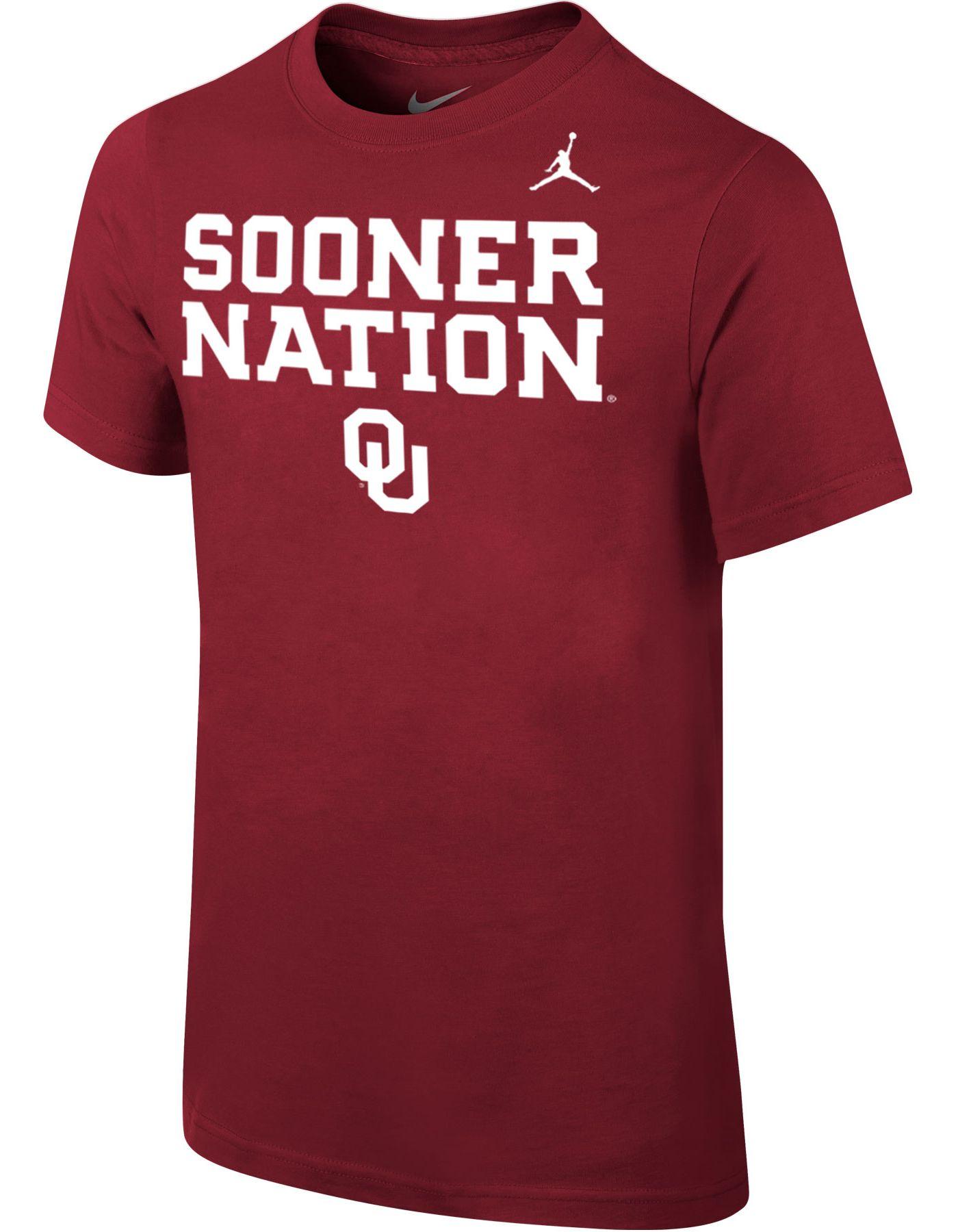 Jordan Youth Oklahoma Sooners Crimson 'Sooner Nation' Mantra T-Shirt