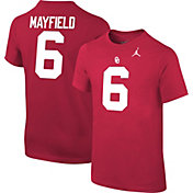 Jordan Youth Baker Mayfield Oklahoma Sooners #6 Crimson Cotton Football Jersey T-Shirt