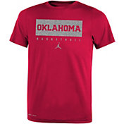 Jordan Youth Oklahoma Sooners Crimson Basketball Legend Practice T-Shirt