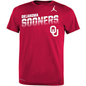 Jordan Youth Oklahoma Sooners Crimson Legend Football Sideline T-Shirt