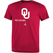 Jordan Youth Oklahoma Sooners Crimson Football Icon Wordmark T-Shirt