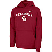 Nike Youth Oklahoma Sooners Crimson Club Fleece Pullover Hoodie