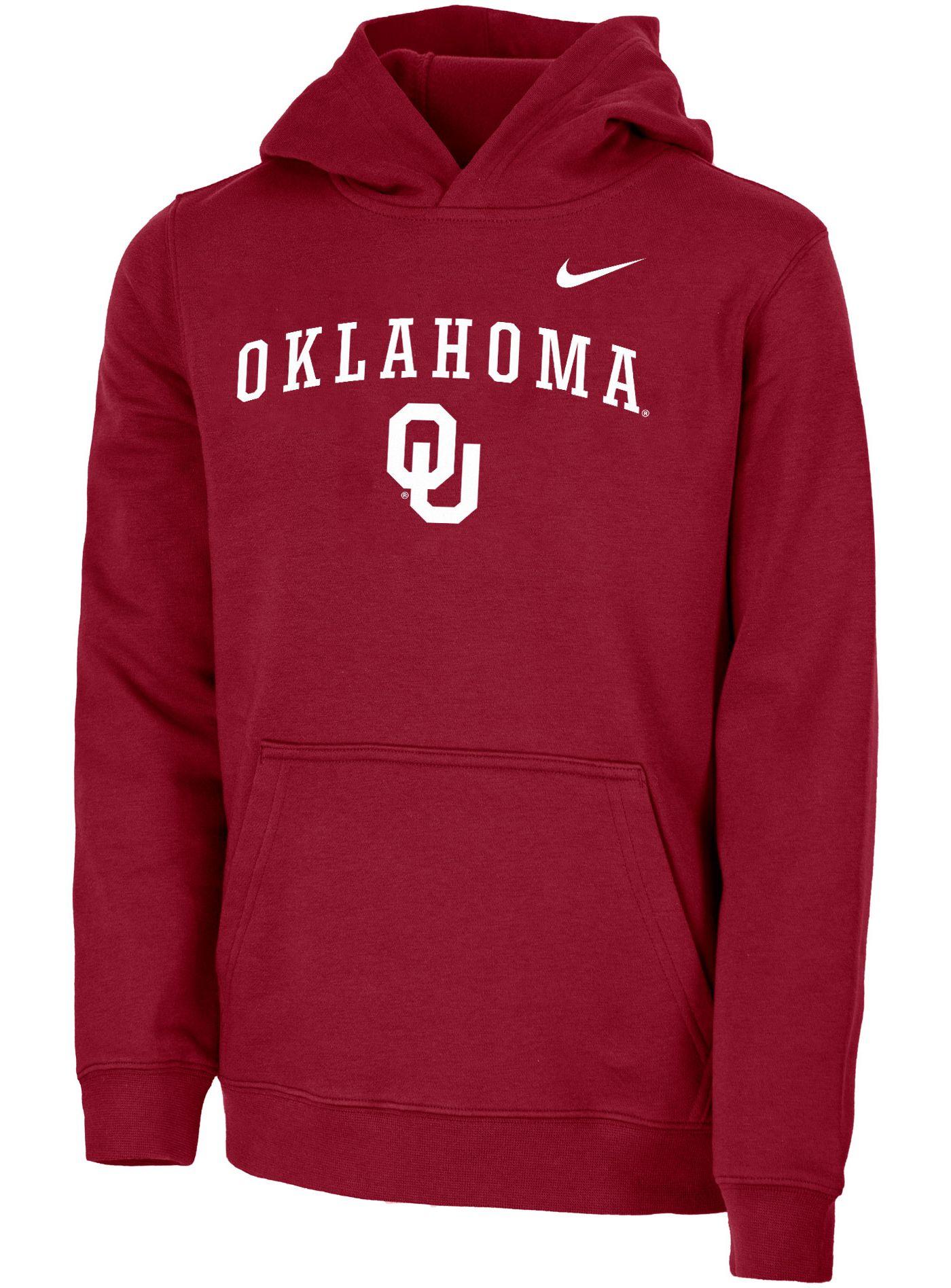 Nike Youth Oklahoma Sooners Crimson Club Fleece Pullover Hoodie