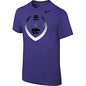 Nike Youth Kansas State Wildcats Purple Cotton Football Icon T-Shirt