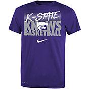 Nike Youth Kansas State Wildcats Purple Basketball Phrase T-Shirt