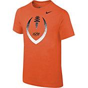 Nike Youth Oklahoma State Cowboys Orange Cotton Football Icon T-Shirt