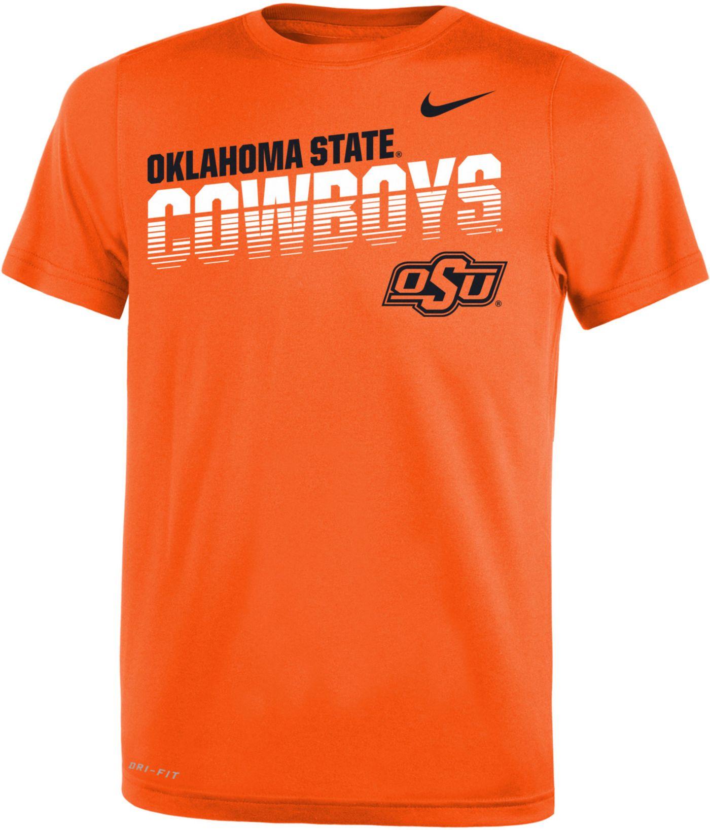 Nike Youth Oklahoma State Cowboys Orange Legend Football Sideline T-Shirt