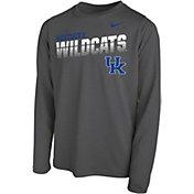 Nike Youth Kentucky Wildcats Grey Legend Football Sideline Long Sleeve T-Shirt