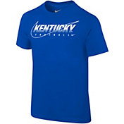 Nike Youth Kentucky Wildcats Blue Football Dri-FIT Cotton Preschool Facility T-Shirt