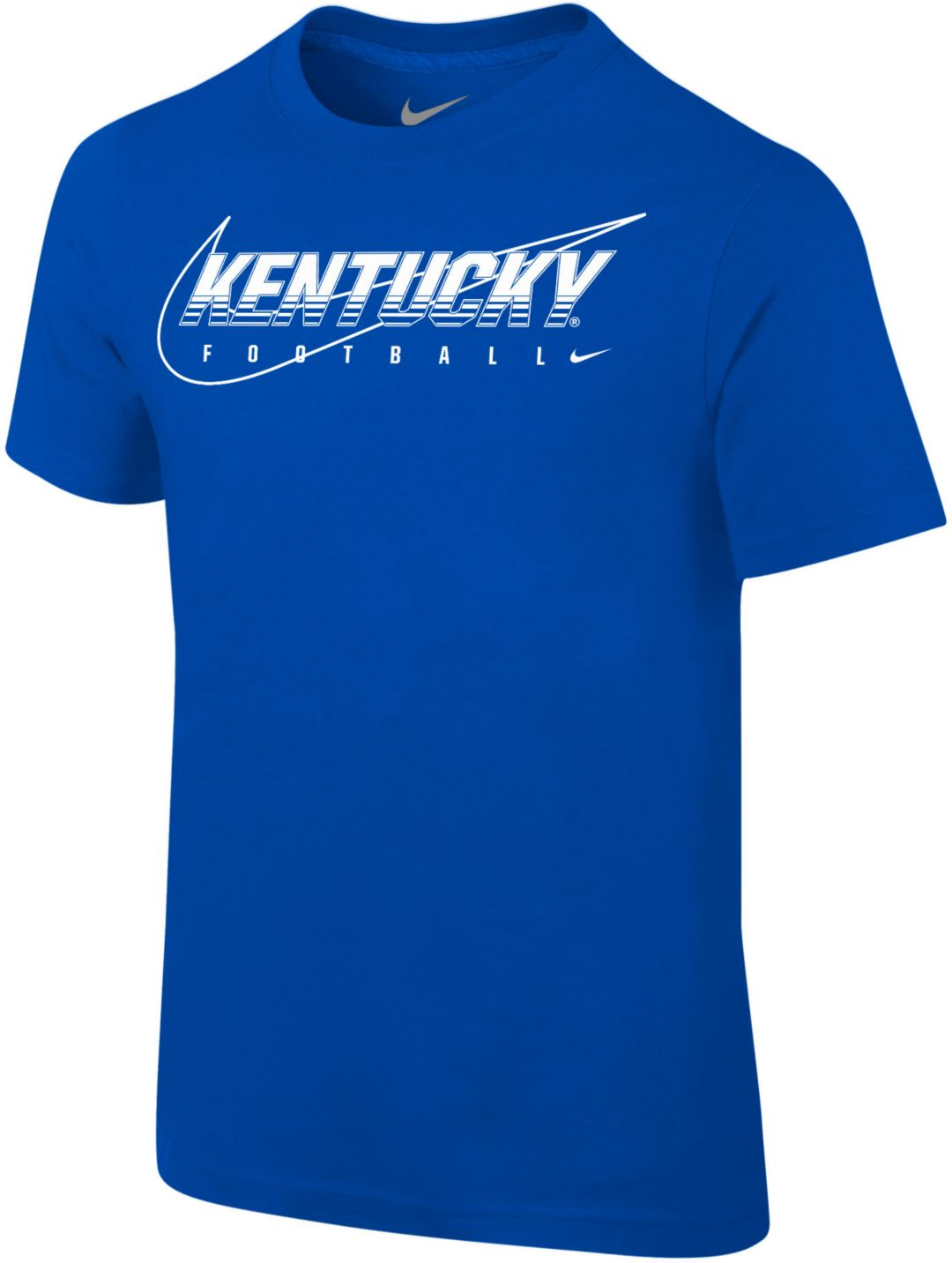 reputable site 3007c 4c665 Nike Youth Kentucky Wildcats Blue Football Dri-FIT Cotton Preschool  Facility T-Shirt