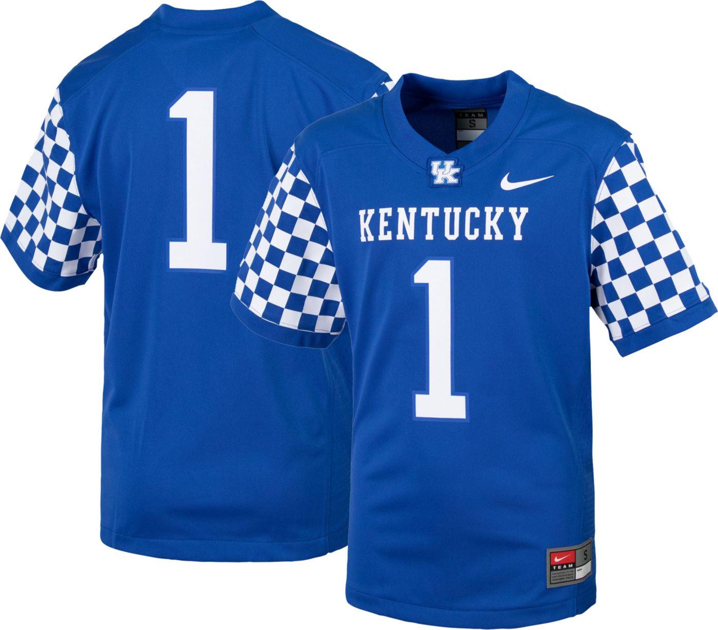 Nike Youth Kentucky Wildcats #1 Blue Replica Football Jersey