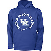 Nike Youth Kentucky Wildcats Blue Therma Basketball Hoodie
