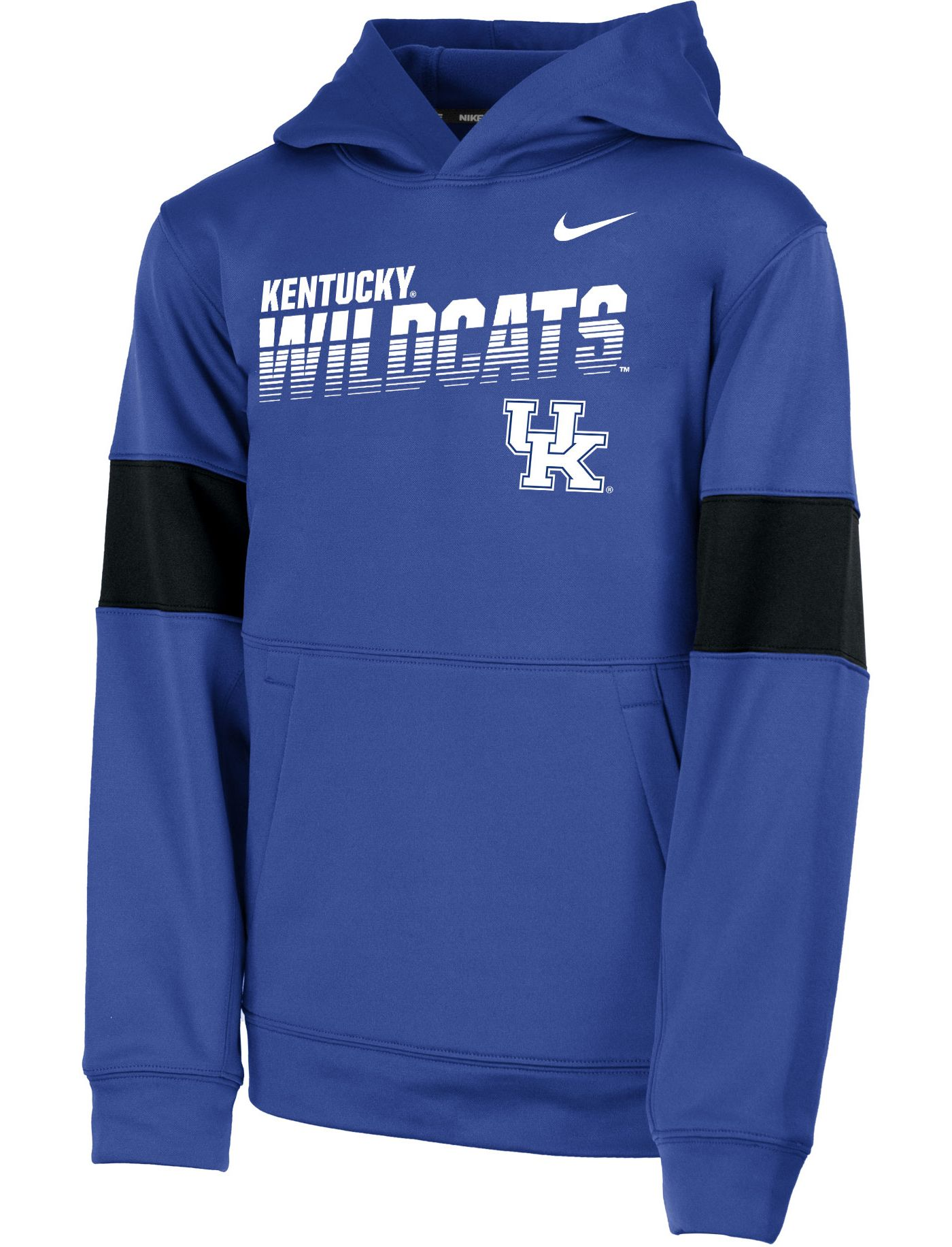 Nike Youth Kentucky Wildcats Blue Therma Football Sideline Pullover Hoodie