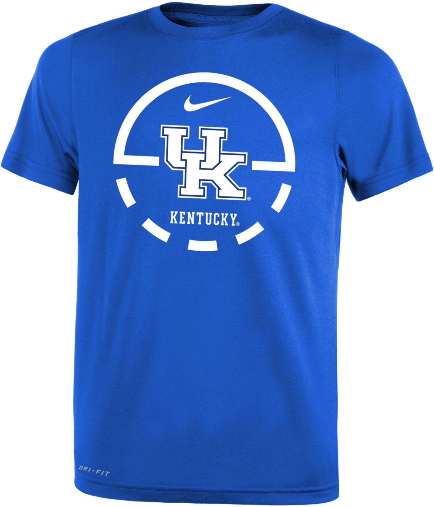 Nike Youth Kentucky Wildcats Blue Legend Basketball Key T-Shirt