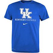 Nike Youth Kentucky Wildcats Blue Football Icon Wordmark T-Shirt