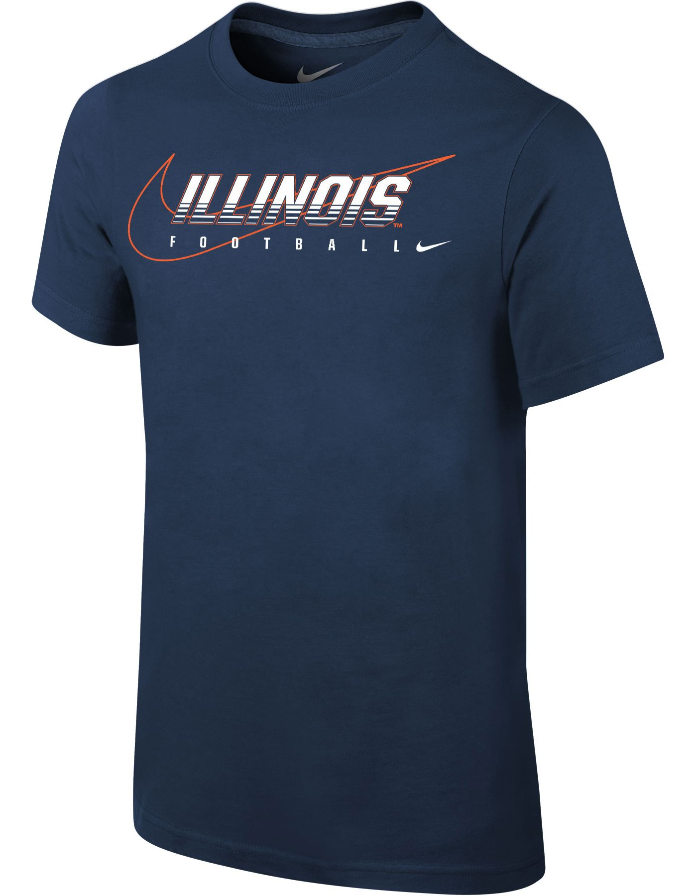 Nike Youth Illinois Fighting Illini Blue Football Dri-FIT Cotton Facility T-Shirt