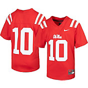 Nike Youth Ole Miss Rebels #10 Red Replica Football Jersey