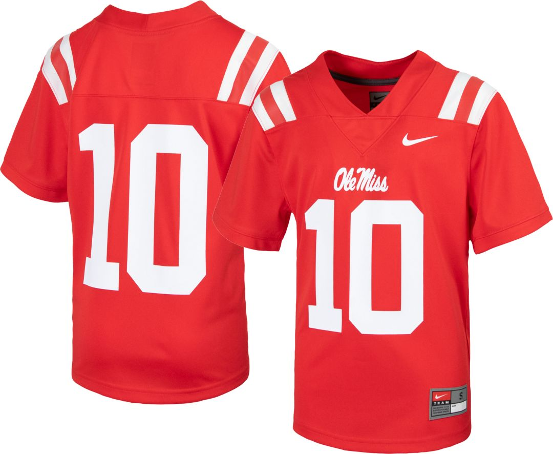 new product 295f2 e84ee Nike Youth Ole Miss Rebels #10 Red Replica Football Jersey