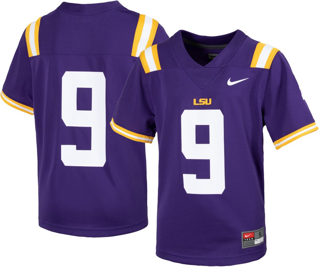 official photos e7441 52bcd Nike Youth LSU Tigers #9 Purple Replica Football Jersey