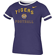 Nike Youth LSU Tigers Purple Fan Ringer Football T-Shirt