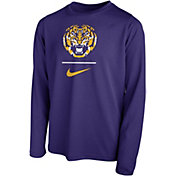 Nike Youth LSU Tigers Purple Legend Stacked Long Sleeve T-Shirt