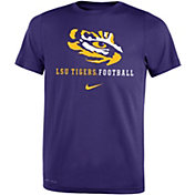 Nike Youth LSU Tigers Purple Football Icon Wordmark T-Shirt