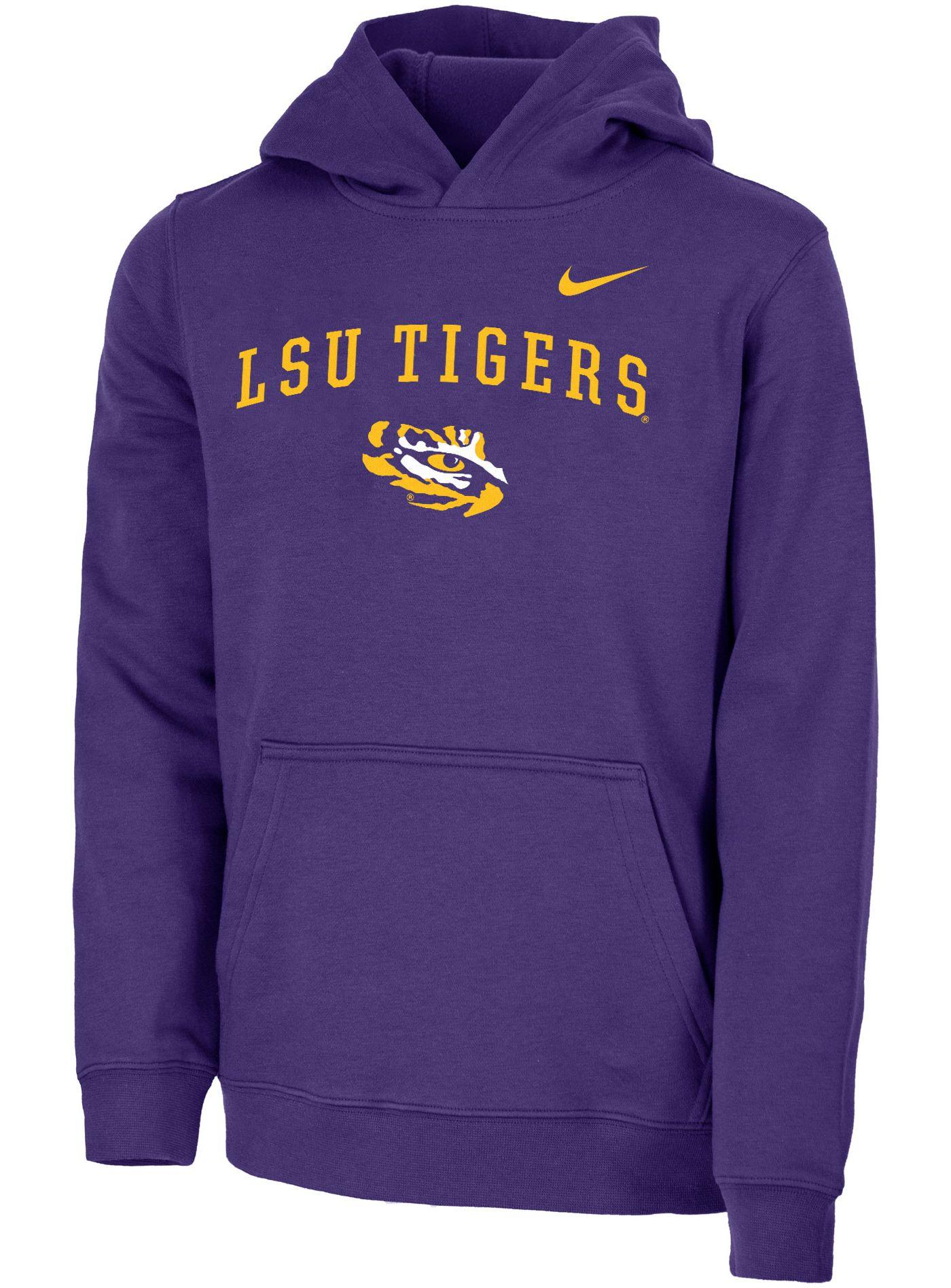 Nike Youth LSU Tigers Purple Club Fleece Pullover Hoodie