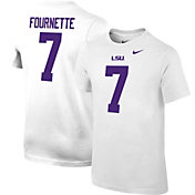 Nike Youth Leonard Fournette LSU Tigers #7 Cotton Football Jersey White T-Shirt