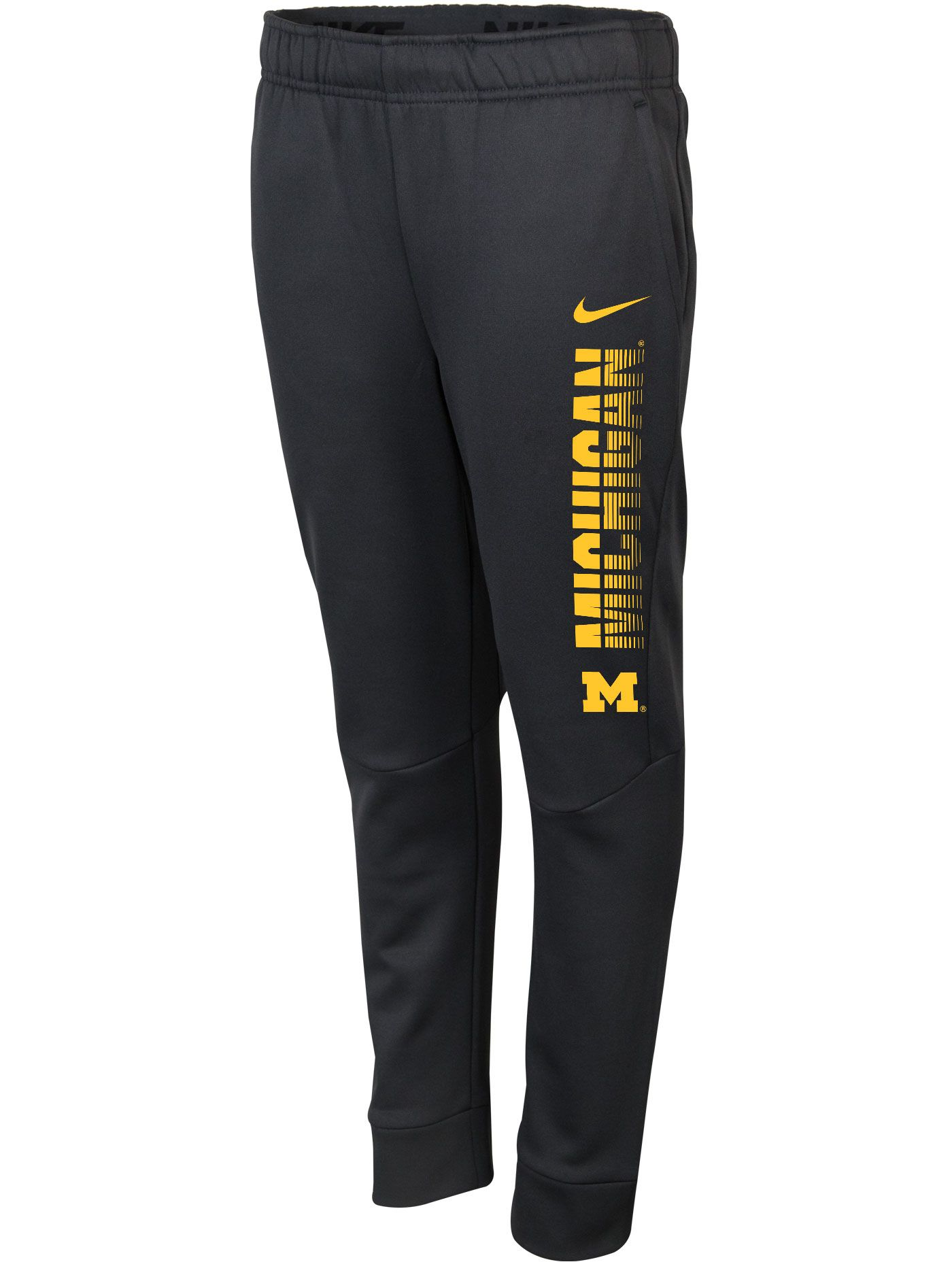 Nike Youth Michigan Wolverines Grey Therma-FIT Tapered Pants